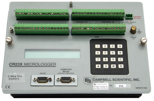 CR23X Micrologger® for Data Acquisition