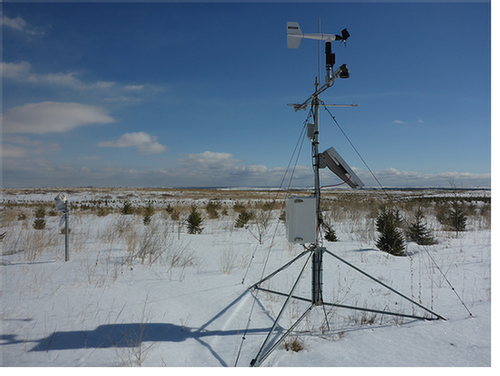 field-snow-weather-station