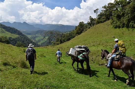 Transporting equipment to valleys below