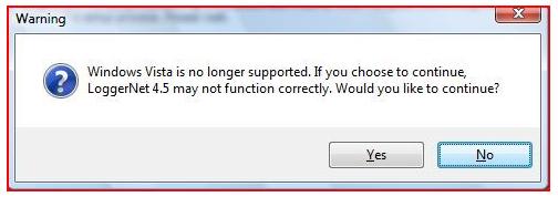 Windows Vista warning message
