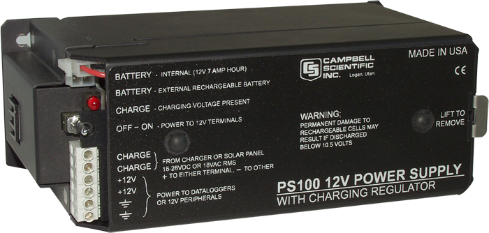 Ps100 12 V Power Supply With Charging Regulator And 7 Ah