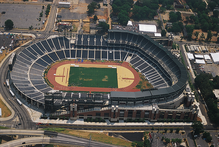 Meteorologic conditions at field level in Olympic Stadium were measured by the National Weather Service in preparation for the 1996 Summer Olympic Games.