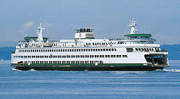 Leaving Edmonds, WA., for Kingston, WA., a ferry both reports and receives weather data every 15 seconds while underway.