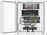enctdr100 enclosure to hold datalogger, sdm8x50-n, and tdr200, 16 x 18 inches