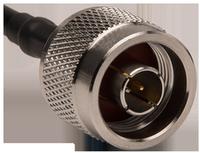 Type N male plug connector