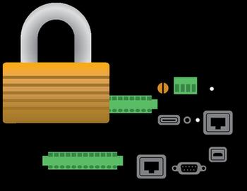 Datalogger with padlock