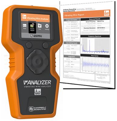 VWAnalyzer with Vibrating Wire Report